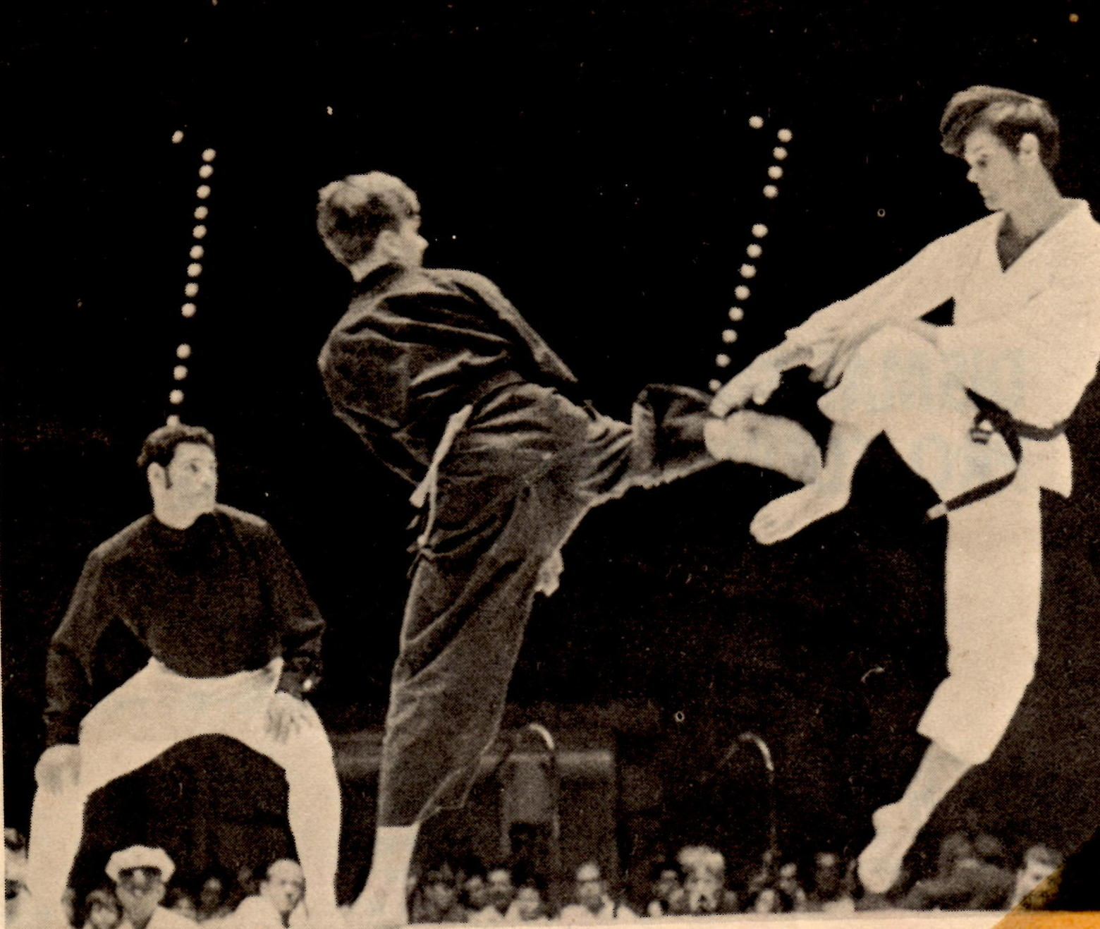 features of karate Karate, an asian martial art that originated in okinawa in the early part of the twentieth century, has spread throughout the world not surprisingly, as.