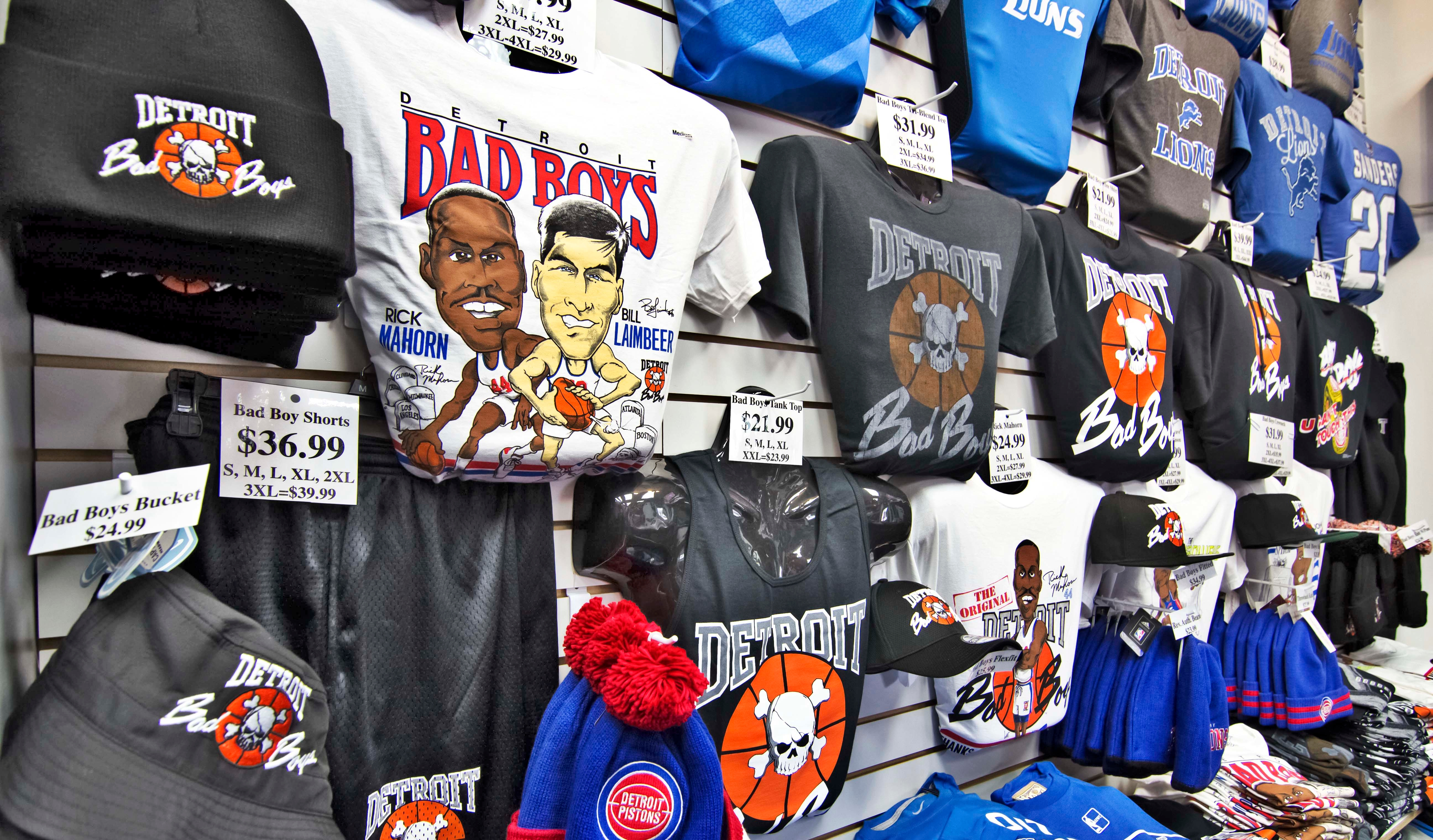 86b82246ae5f Detroit Pistons Bad Boy T Shirts