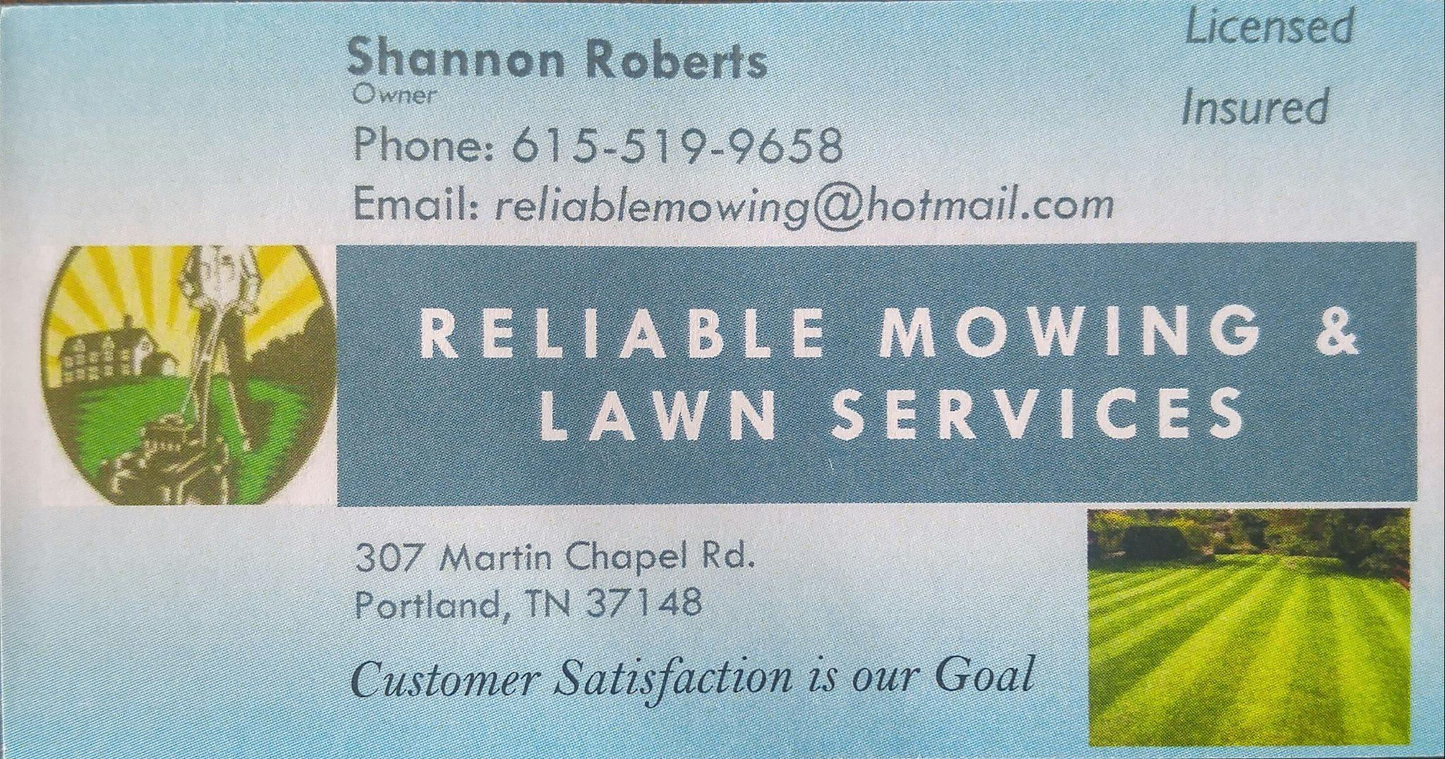 Reliable mowing and lawn services portland tennessee for Local lawn mowing services
