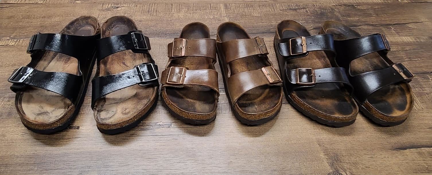 KW Shoe Repair & Sneaker Cleaning Service in Kitchener: Birkenstock season! KW Shoe Repair will figure a way to restore them close to new condition! $50 New sole $10 Cork restoration  $25 Deep cleaning