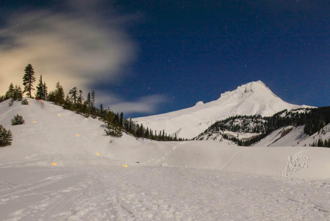 Moonlight Snowshoe Tour on Mt. Hood