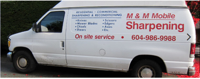 M & M Mobile Sharpening in Vancouver