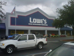 Lowe 39 s home improvement in tampa fl 813 249 6 for Furniture w waters ave tampa