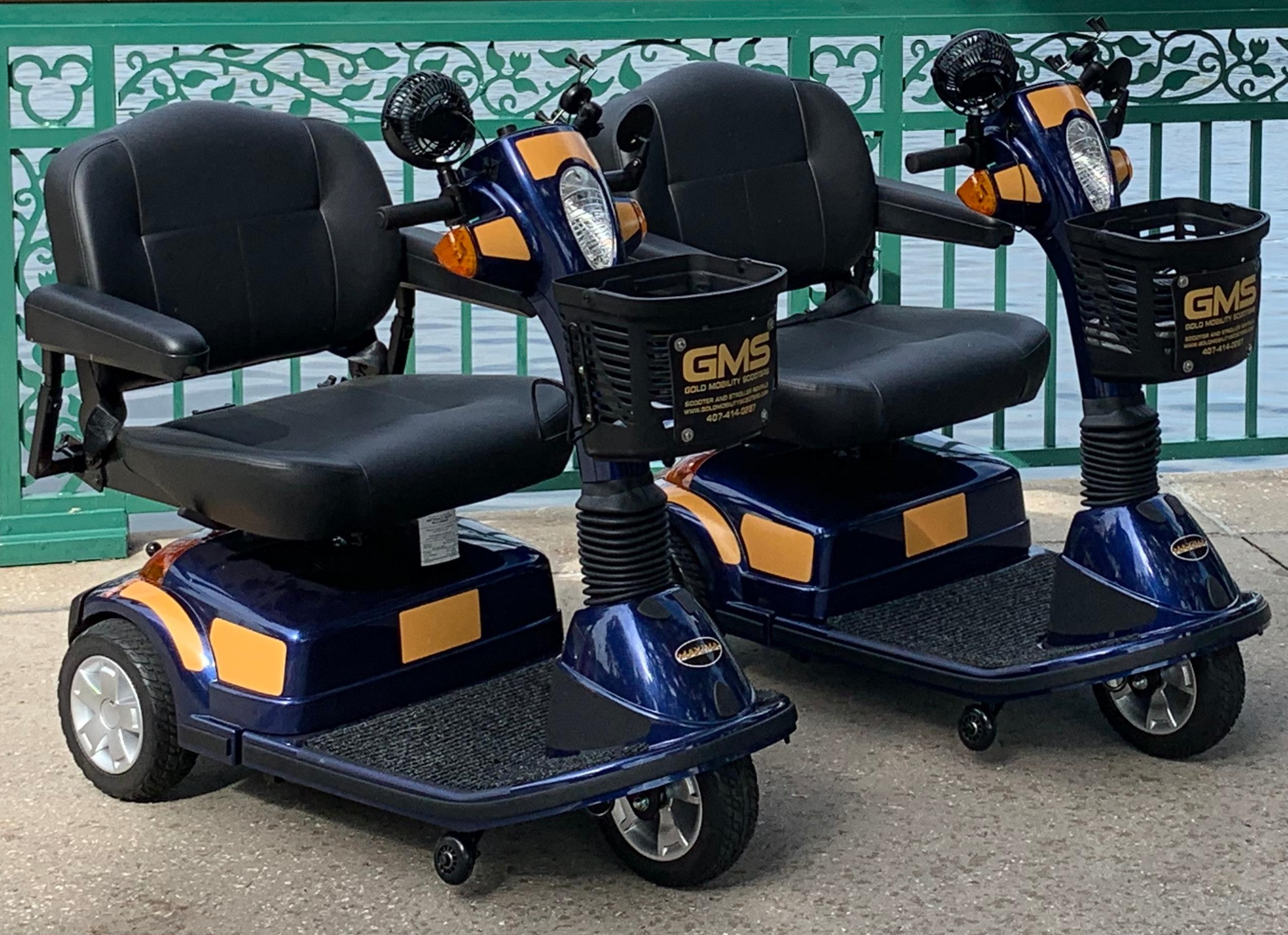 Pride Maxima scooter rental by Gold Mobility Scooters. The maxima scooter is a 500LB capacity mobility scooter. GMS is a 5 star rated mobility scooter rental company for Orlando area and for Theme Park guests. We offer free delivery to most all hotels and Resorts in the Central Florida area. Best apples for apples rental prices, premium brand new mobility scooters for rent, Free Delivery and Pickup, Free Damage Waver, Free Accessories, and Custom upgrades. 5 star rated scooter rental company. Scooter Rental info at goldmobilityscooters.com or Call us at 407-414-0287 No cancellation fee's or Change Fee's.