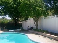 Swimming pool vinyl fencing that can withstand water and weather