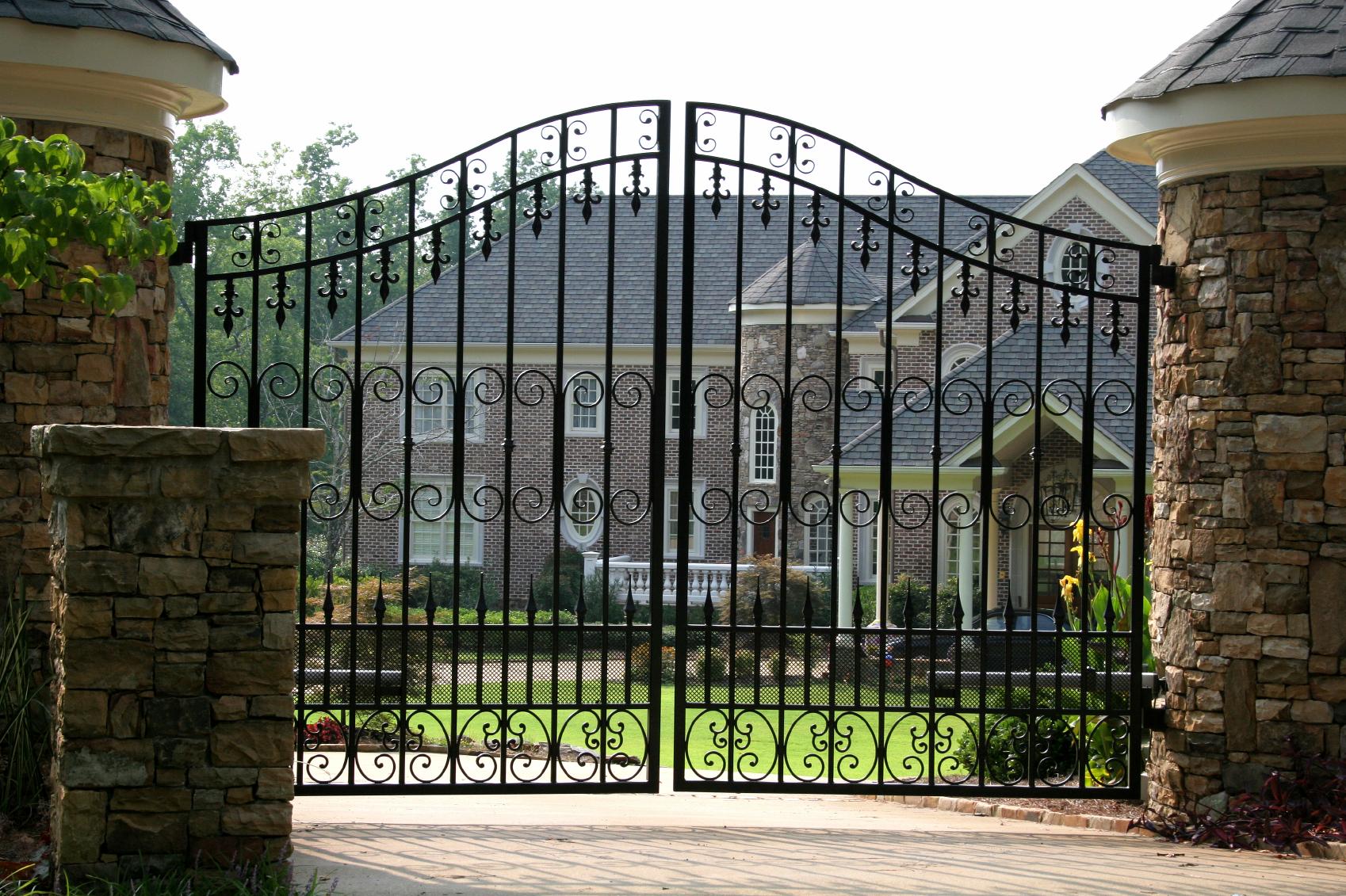 Ворота в осколках откатные ворота самодельные