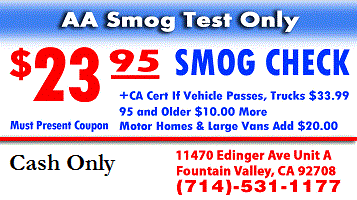 Aa Smog Test Only