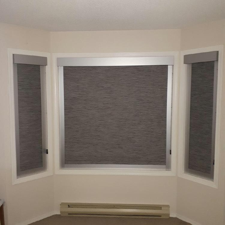 Budget Blinds of Delta, South Surrey and White Rock in Delta: Black Out Roller Shades: To create total black out for this client, we installed side channels with the roller shade to block any and all sun. Great for childrens rooms, suffers of migraines and shift worker bedrooms