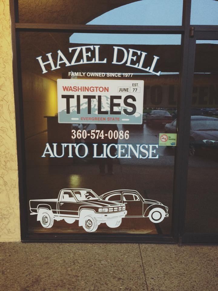 Hazel Dell Auto License Vancouver Washington Wa