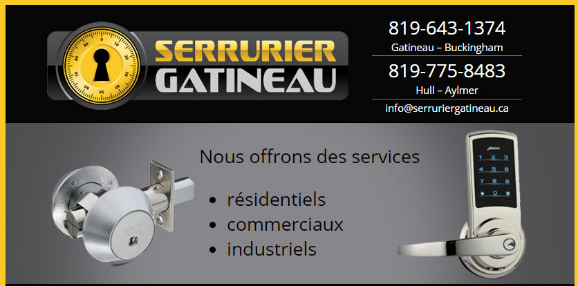 Jean Pierre Aumont CI Serruriers - Gatineau, QC J8R 2W1 - (819)643-1374 | ShowMeLocal.com