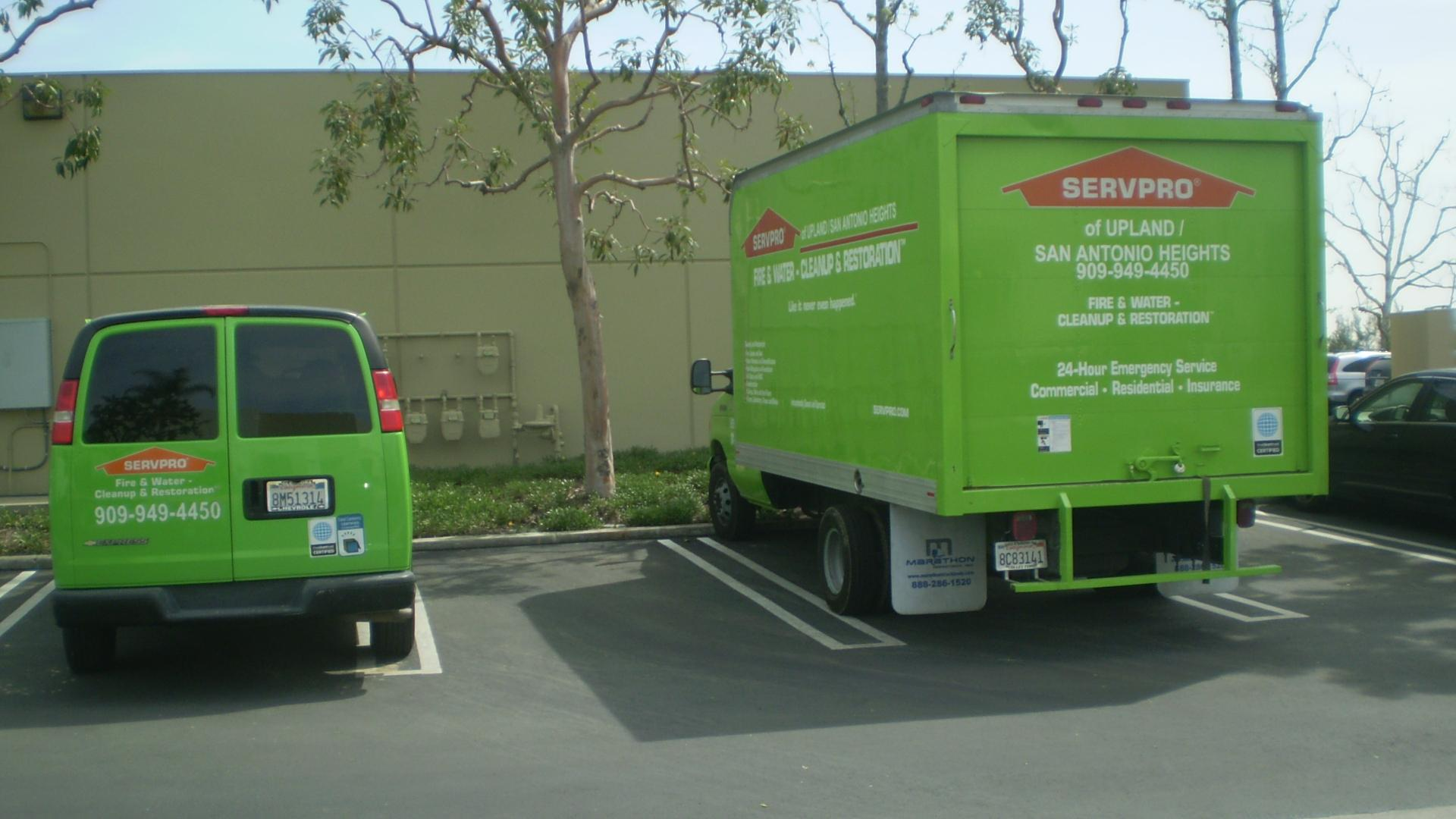 Servpro Of Upland And San Antonio Heights In Upland Ca