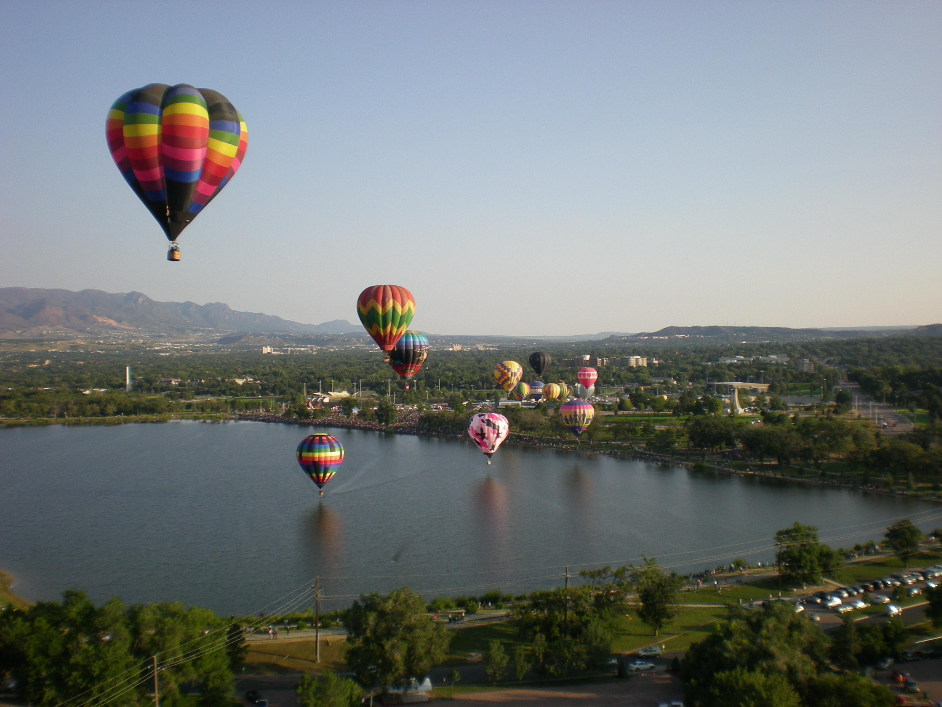 """We had a wonderful time sponsoring the """"Sun Chaser"""" balloon!  Check out the view from the """"Sun Chaser"""" mid flight!"""