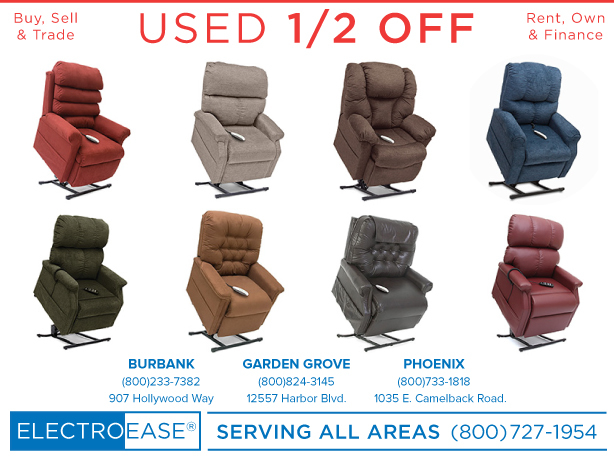 Phoenix rent used electric reclining seat leather like lift chair recliners some with heat and massage, extra wide tall bariatric liftchairs by Pride and Golden