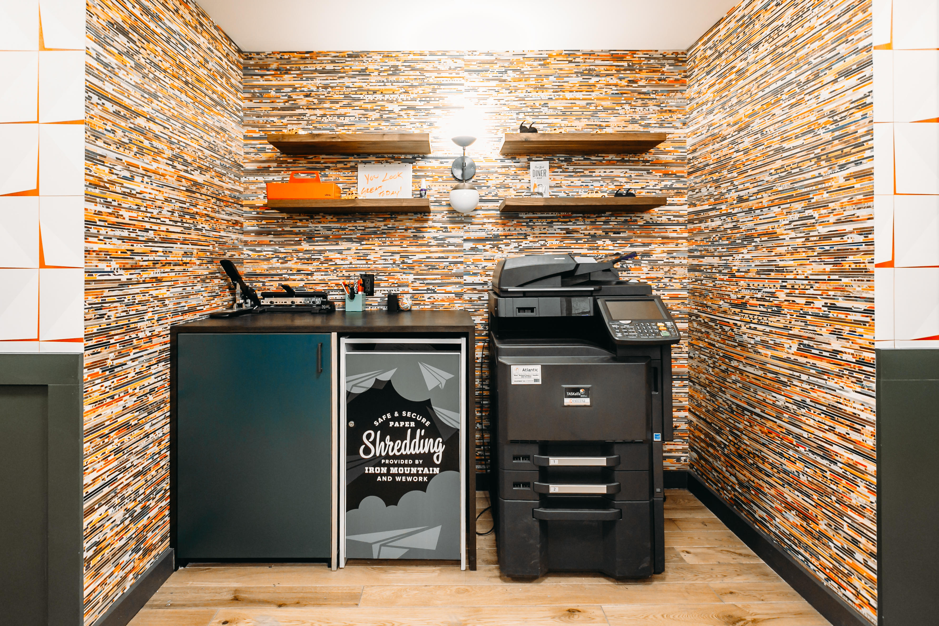Example shown: Printing Nook (Times Square, New York City) WeWork 33 Queen St London 020 3695 7895