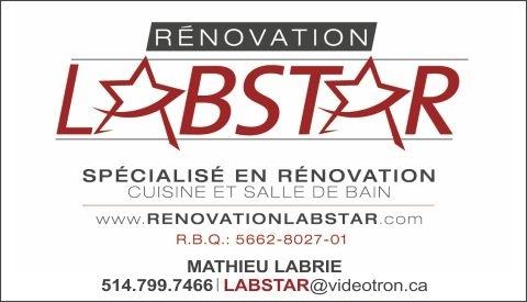 Renovation Labstar Laval (514)799-7466