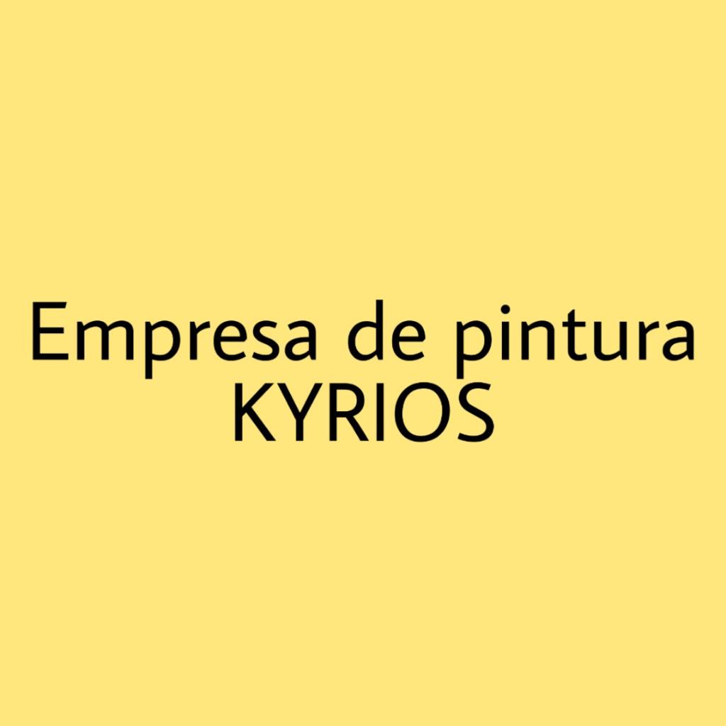 EMPRESA DE PINTURA KYRIOS