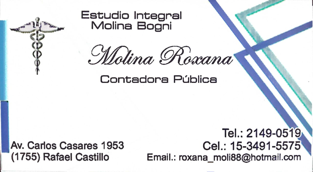 CONTADORA PUBLICA MOLINA ROXANA
