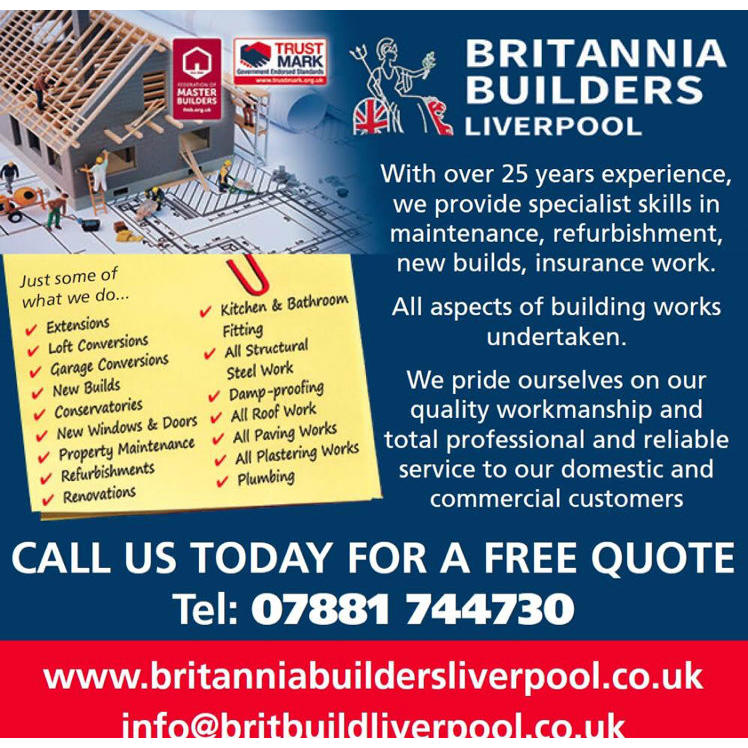 Britannia Builders - Liverpool, Merseyside L13 7HW - 07881 744730   ShowMeLocal.com