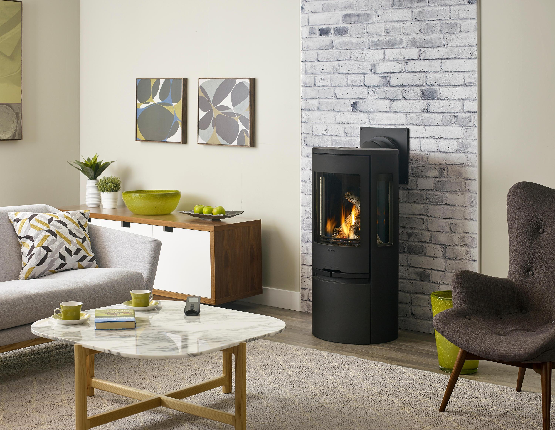Fireplace Gallery in Edmonton: Regency Contura RC500 European Style Freestanding Gas Stove - Black
