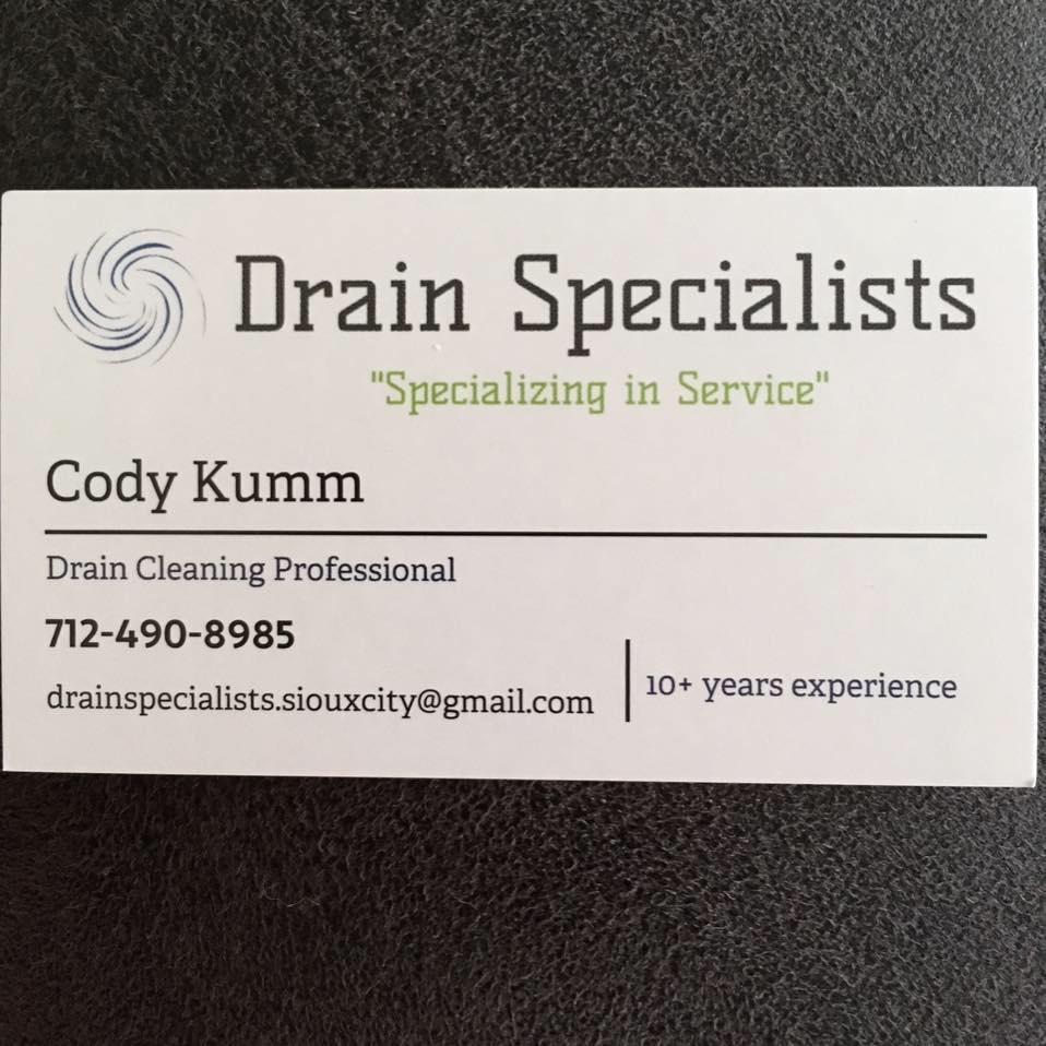 Drain Specialist - Sioux City, IA 51104 - (712)490-8985   ShowMeLocal.com