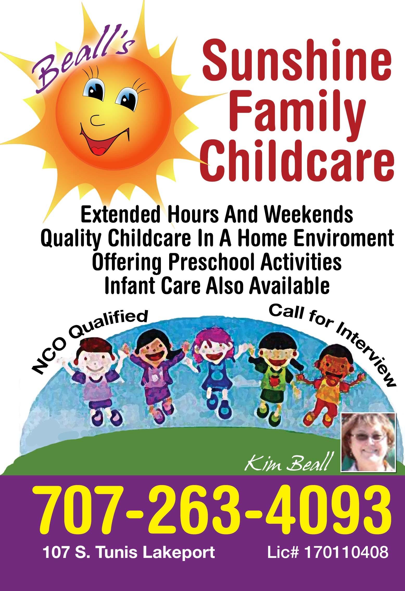 Beall's Sunshine Family Childcare, Kim Beall Owner