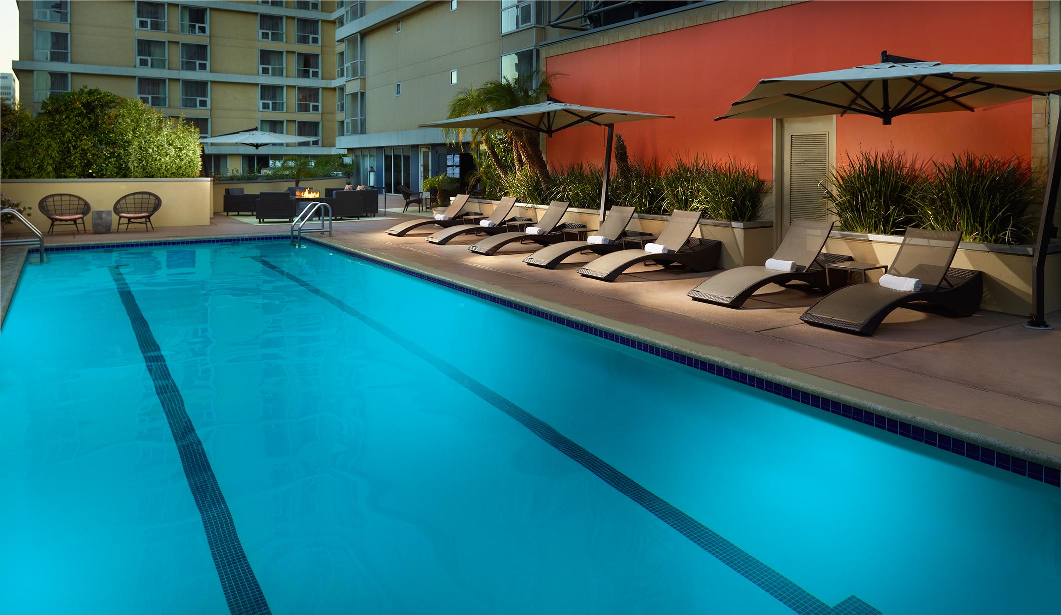 Omni Los Angeles Hotel At California Plaza Los Angeles California Ca