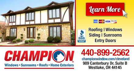 Champion windows sunrooms roofs home exteriors in - Champion windows sunrooms home exteriors ...