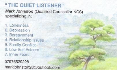 The Quiet Listener Newtownards 07976 529228