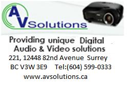AV Solutions BC Ltd in Surrey