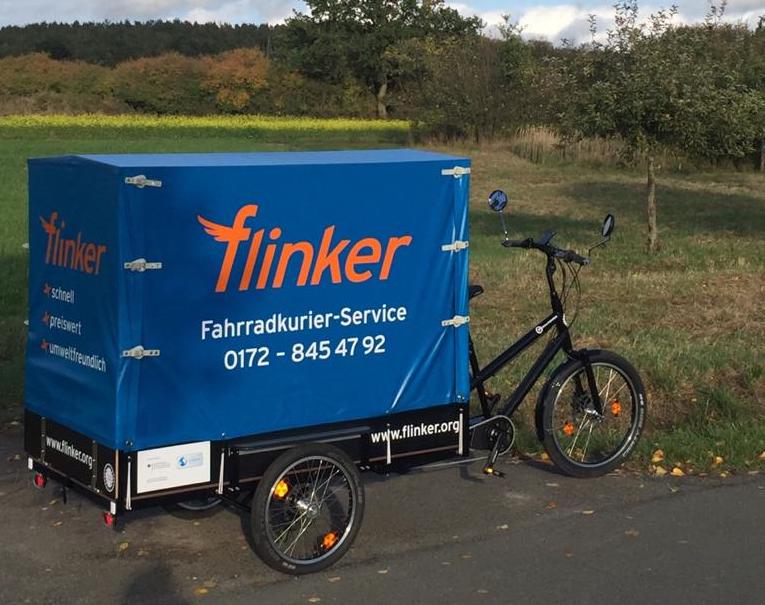 Gewerbe-Referenz: Fahrradkurier flinker in Bayreuth liefert Ihre Produkte in Bayreuth und Umgebung mit dem Schwerlastenrad