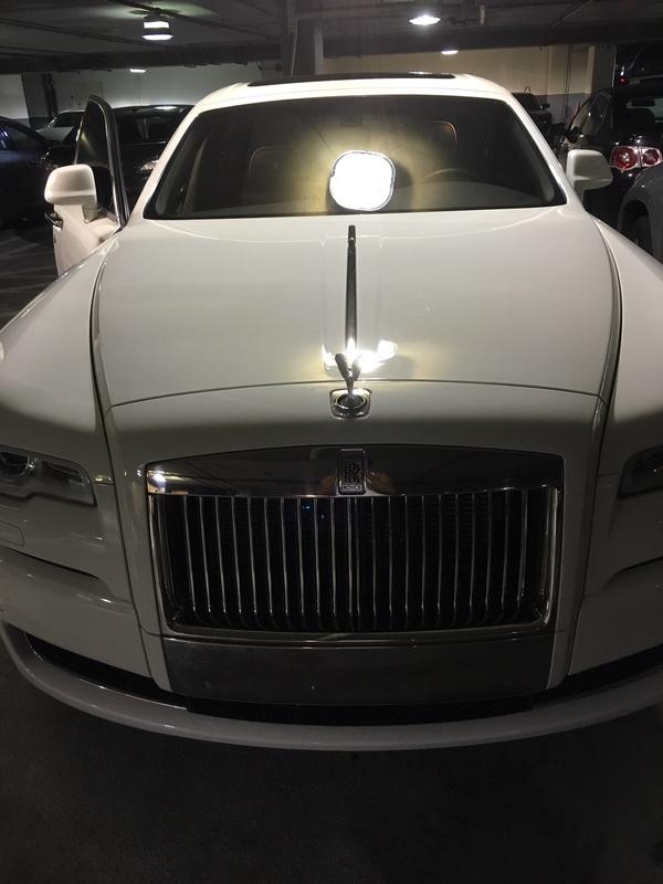 Luxury car window tinting for windshield.