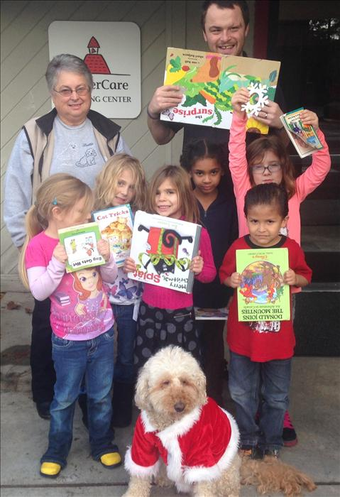During the school year we have Paws for Reading come and bring licensed therapy dogs to hear our kindergartners read
