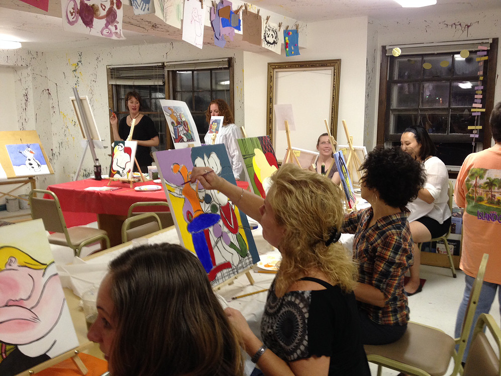 Leaping dog art studios coupons near me in bordentown for Painting studios near me