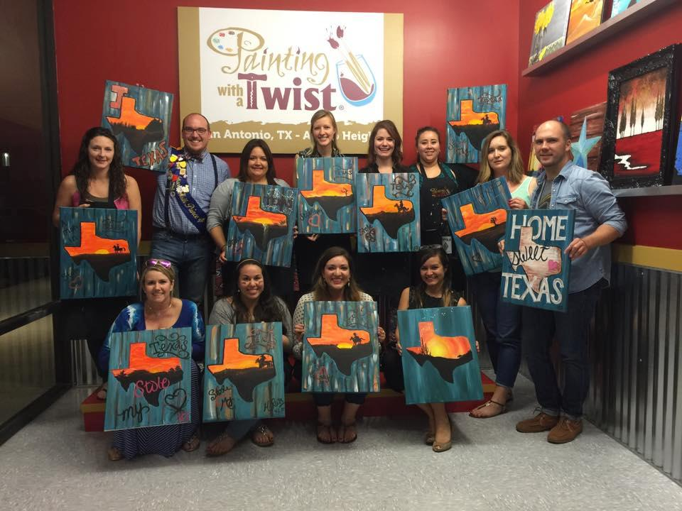 Painting with a twist in san antonio tx 78209 for Wine and paint san antonio