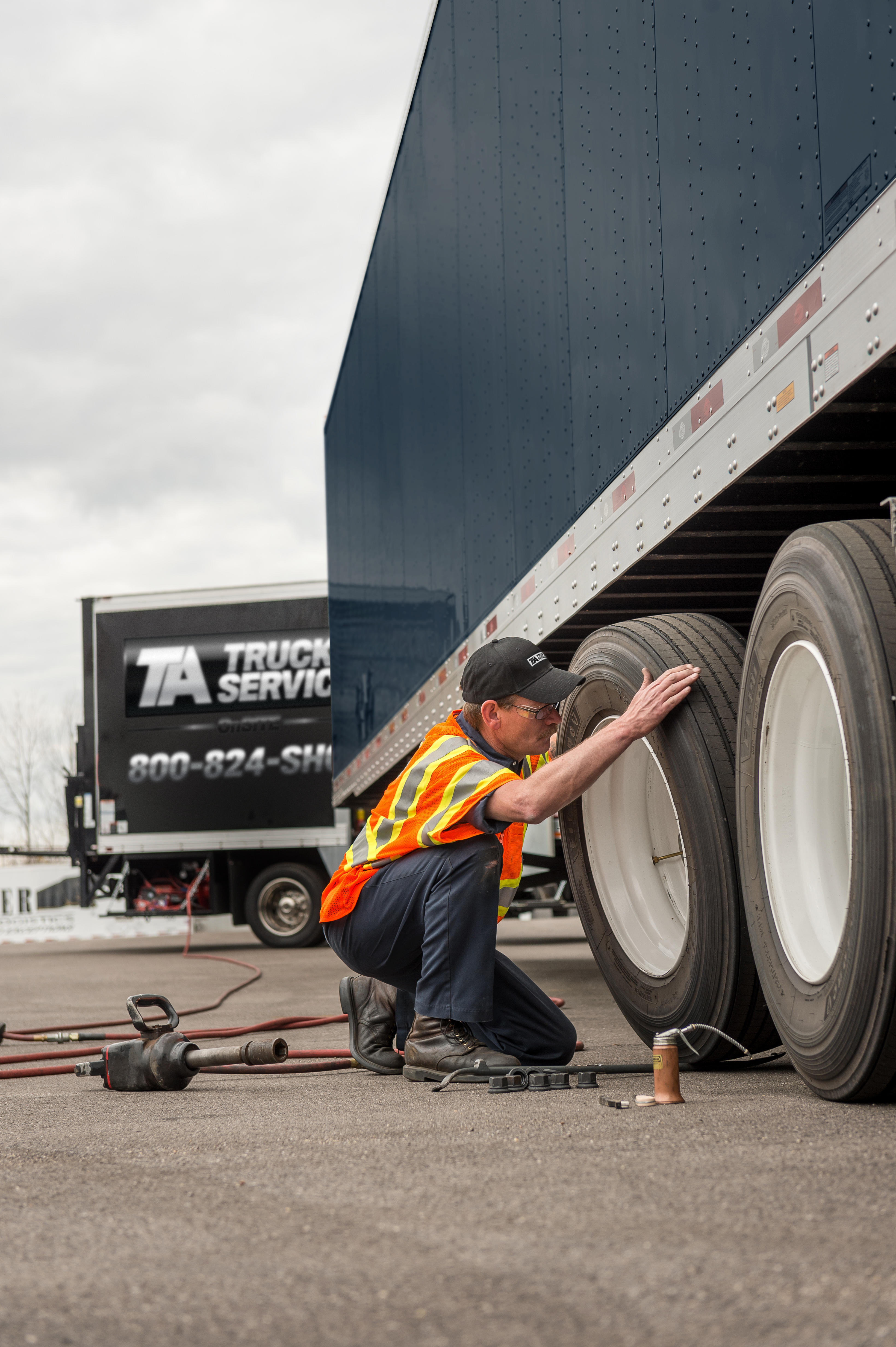 TA Truck Service TechOn-SITE makes managing your fleet's maintenance and repairs easy, by bringing MORE: Solutions right to the tractors and trailers staged at your lot or distribution center.