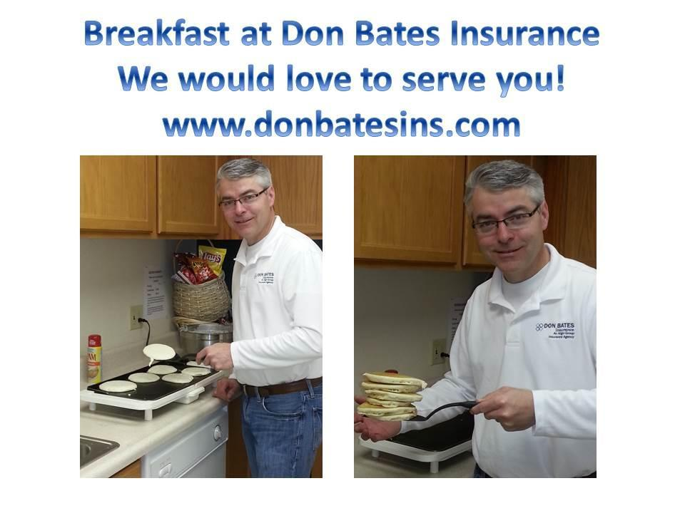 President, Bill Syddall serving breakfast to his awesome staff!