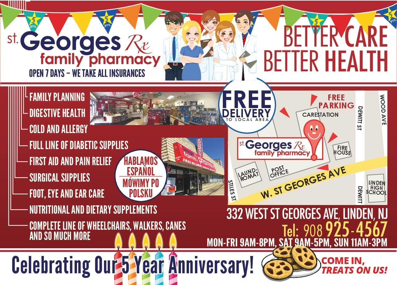 st georges family pharmacy coupons linden nj near me 8coupons. Black Bedroom Furniture Sets. Home Design Ideas