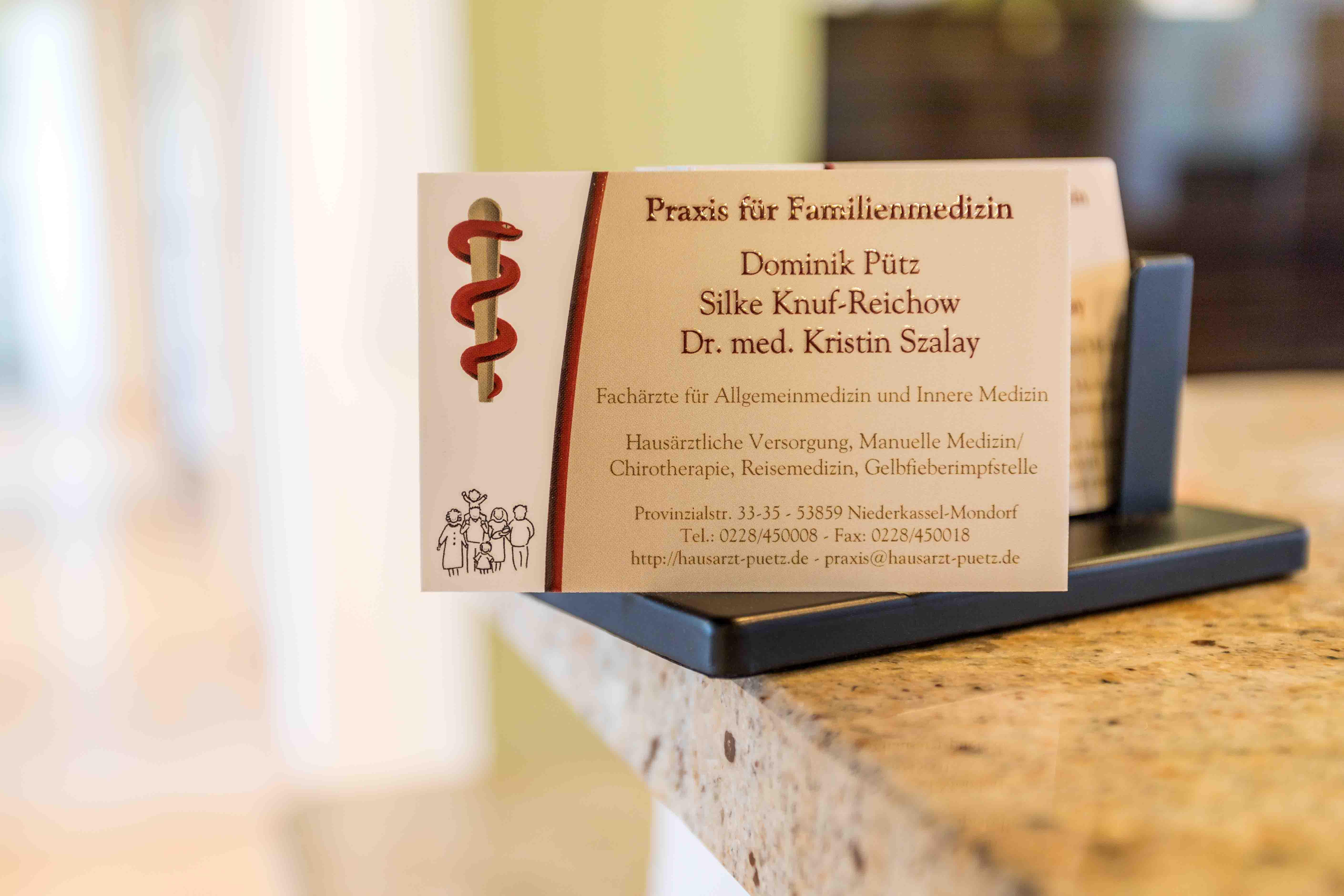 Praxis für Familienmedizin Dominik Pütz Niederkassel