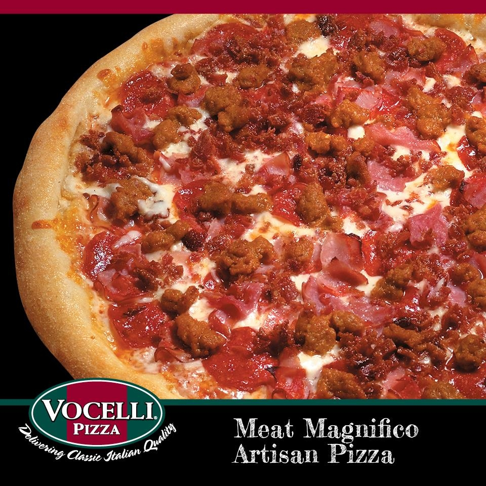 Meat Magnifico: Perfect for the meat lover! Pepperoni, ham, Capicola, bacon, Italian sausage, and mozzarella cheese.