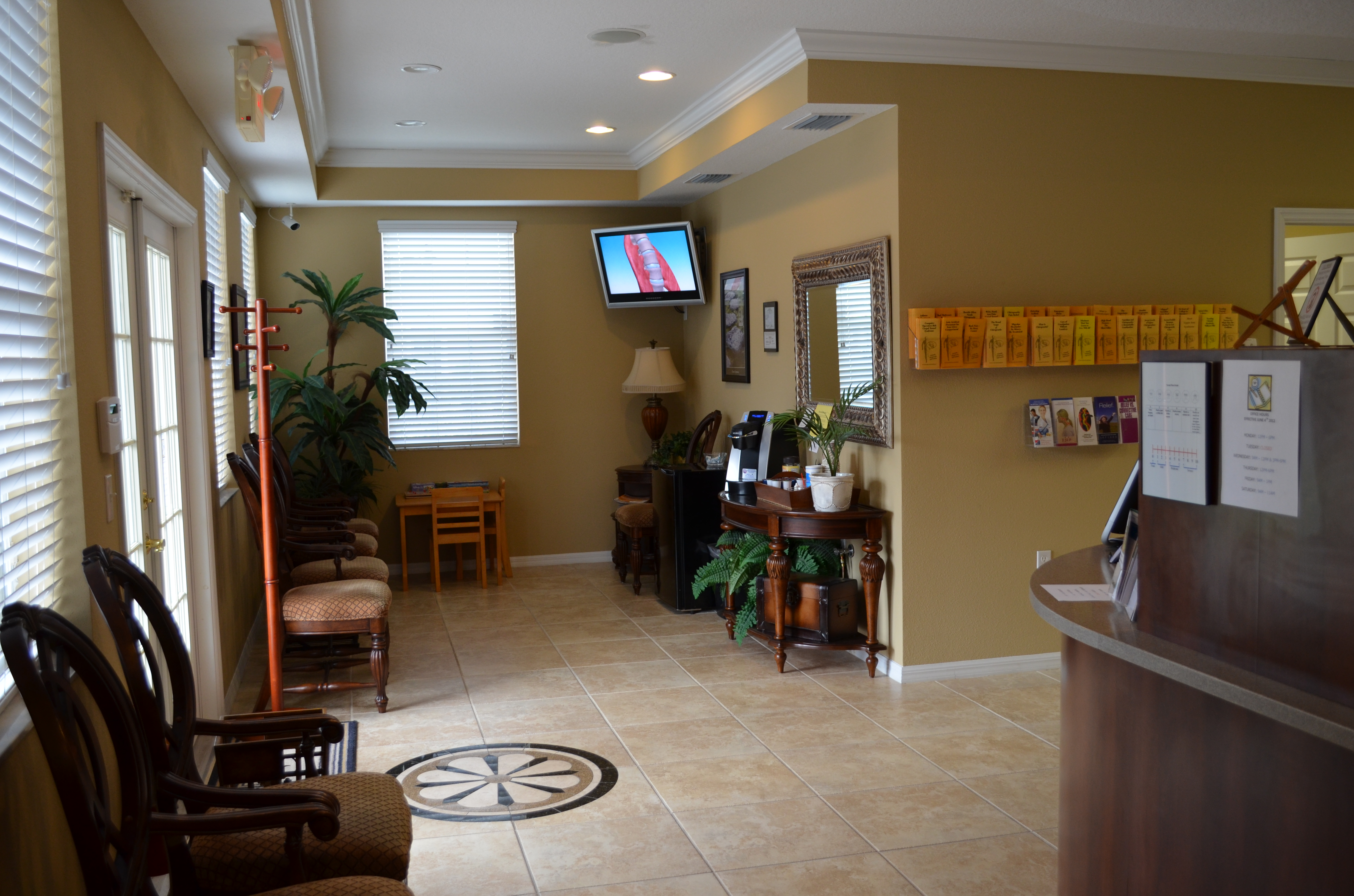 Wesley Chapel Chiropractor Waiting Area