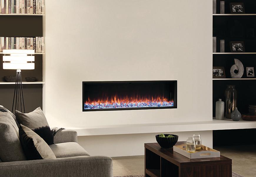 Fireplace Gallery in Edmonton: Regency Skope E135 Modern Electric Fireplace - Built into wall