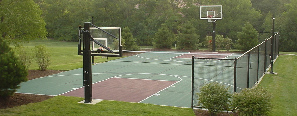 Power court west chicago illinois il for Residential sport court cost