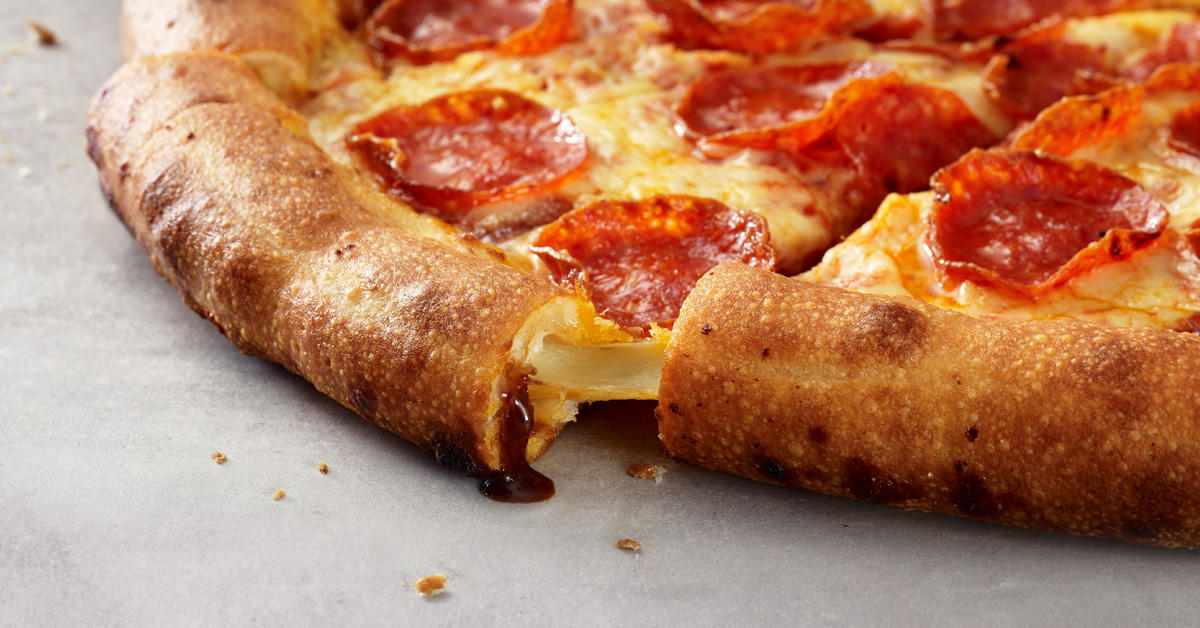 Papa John's Marmite® Stuffed Crust Double Pepperoni Pizza Papa John's Pizza Burnley 01282 430033