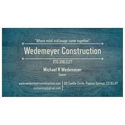 Wedemeyer Construction - Pagosa Springs, CO - Concrete, Brick & Stone