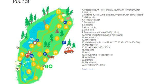 Puuha- ja eläinpuisto Veijari, Kalastajakylä
