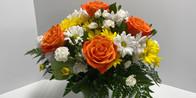 Enjoy the beautiful arrangements of a local florist.