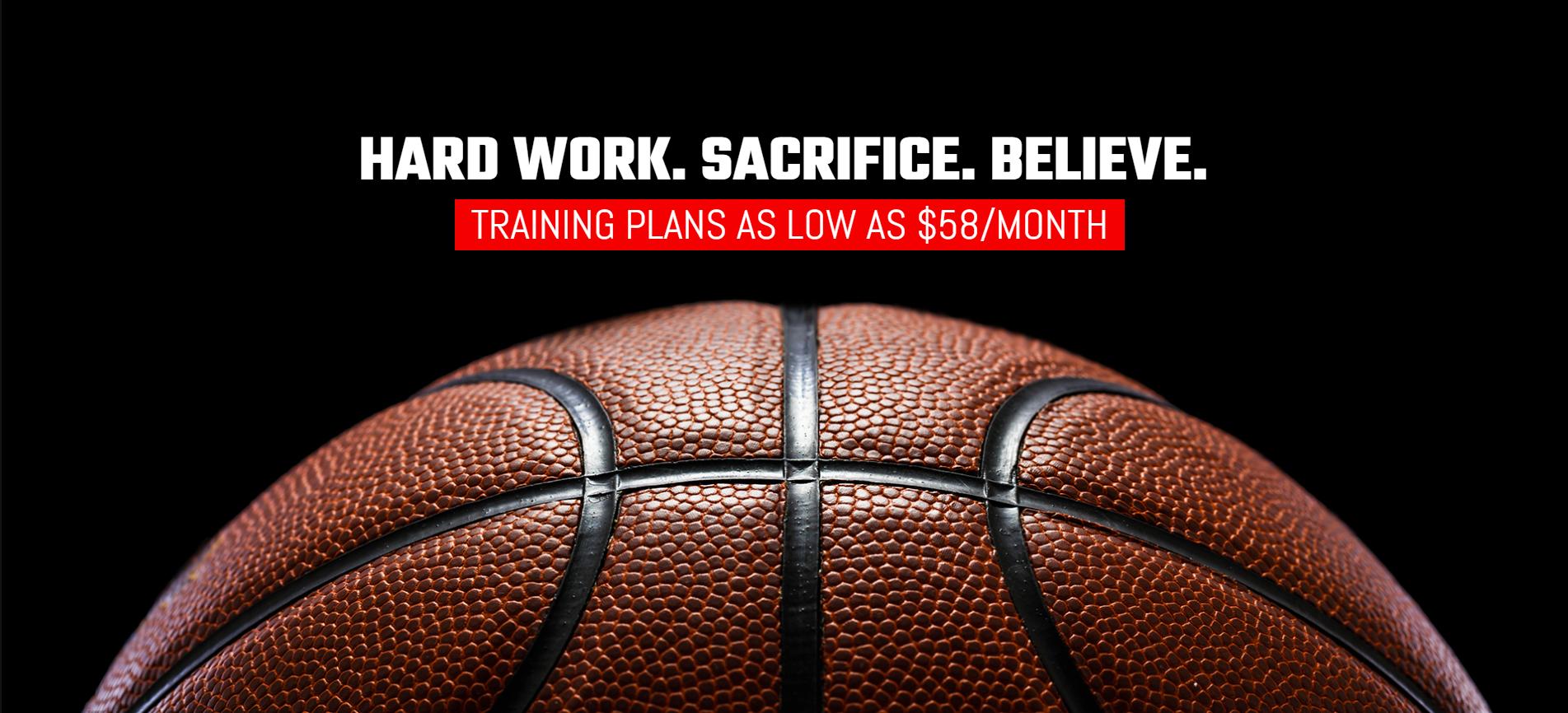 Hard work. Sacrifice. Believe.