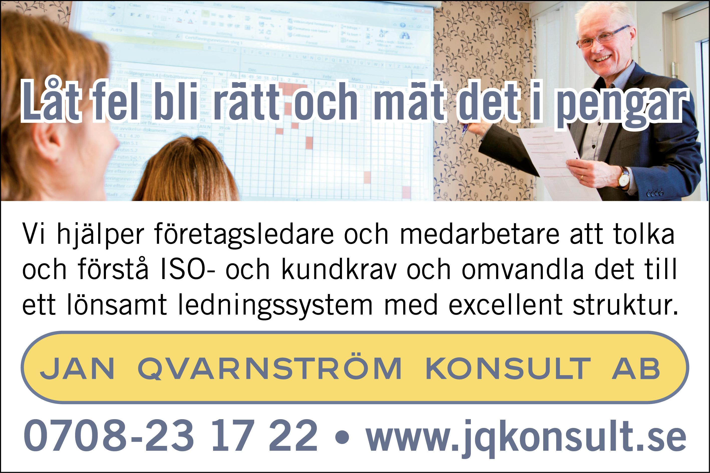 Qvarnström Konsult AB, Jan