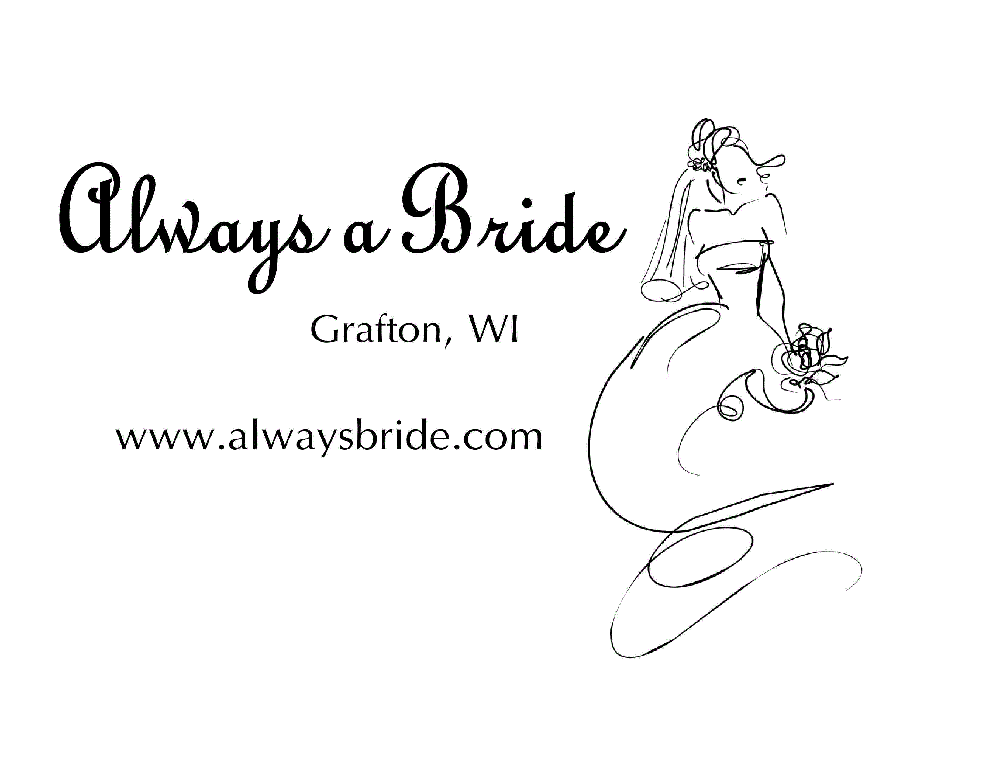 Bridal Shop in WI Grafton 53024 Always a Bride Wedding Consignment 1540 Wisconsin Ave  (262)573-8801