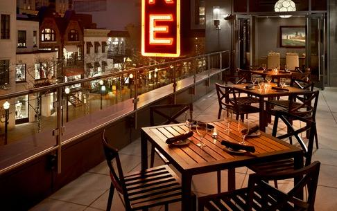 Del Frisco's Double Eagle Steakhouse Chicago Patio private dining room